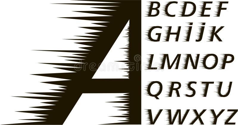 Font.speed espinhoso ilustração do vetor