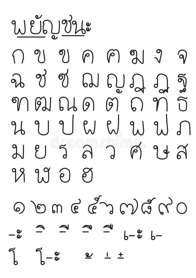 Font thai v.3 royalty free stock images