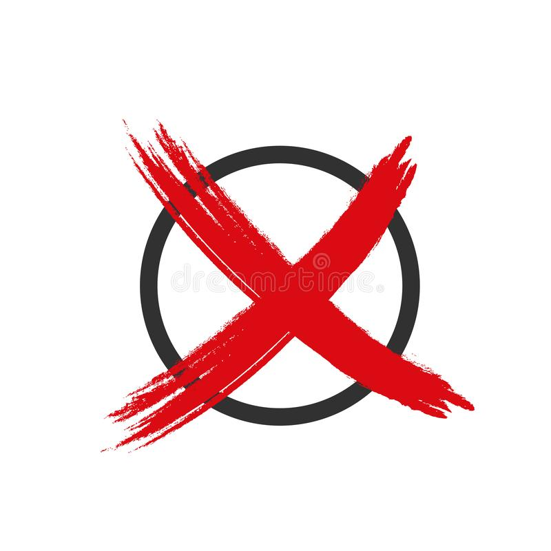Font tic tac l'icône rouge illustration de vecteur