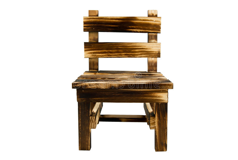 Font view of wooden chair.  royalty free stock photo