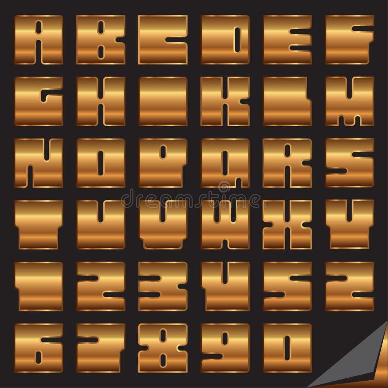 Download Font Yamakov stock vector. Image of unique, letters, design - 19177160