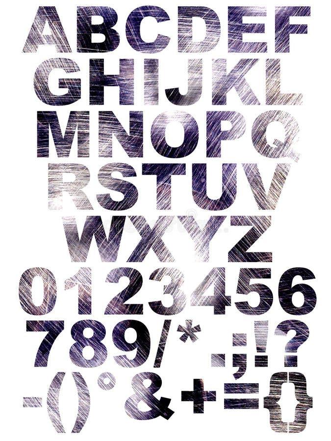 font zadrapanie royalty ilustracja