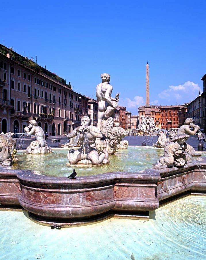 Fonta del Moro, Roma fotografia de stock