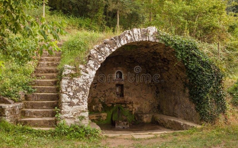Fontain de El Prat del Pou fuera de la visión fotos de archivo