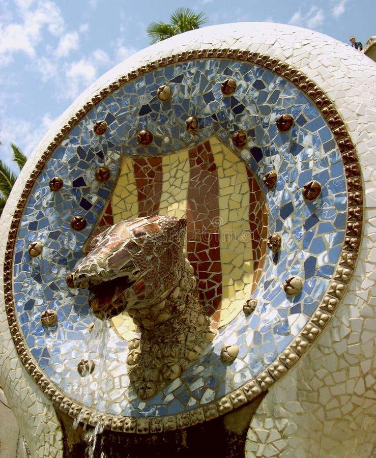 Fontain de Gaudi fotografía de archivo