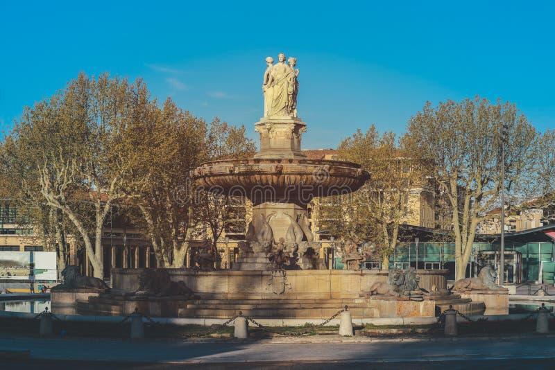 Fontain de la Rotonde in Ain en Provence royalty free stock images