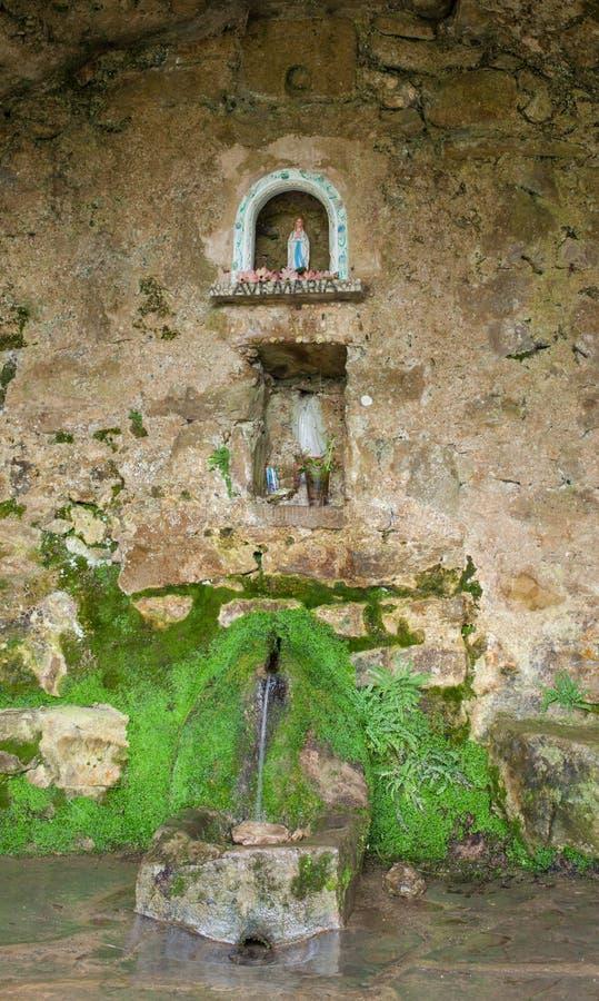 Fontain de los detalles del interior de El Prat del Pou imagen de archivo