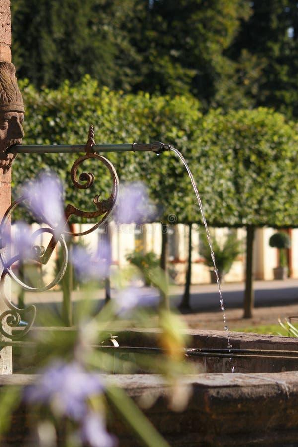 Fontain. Fountain at Schloss Favorite Rastatt Förch royalty free stock photo