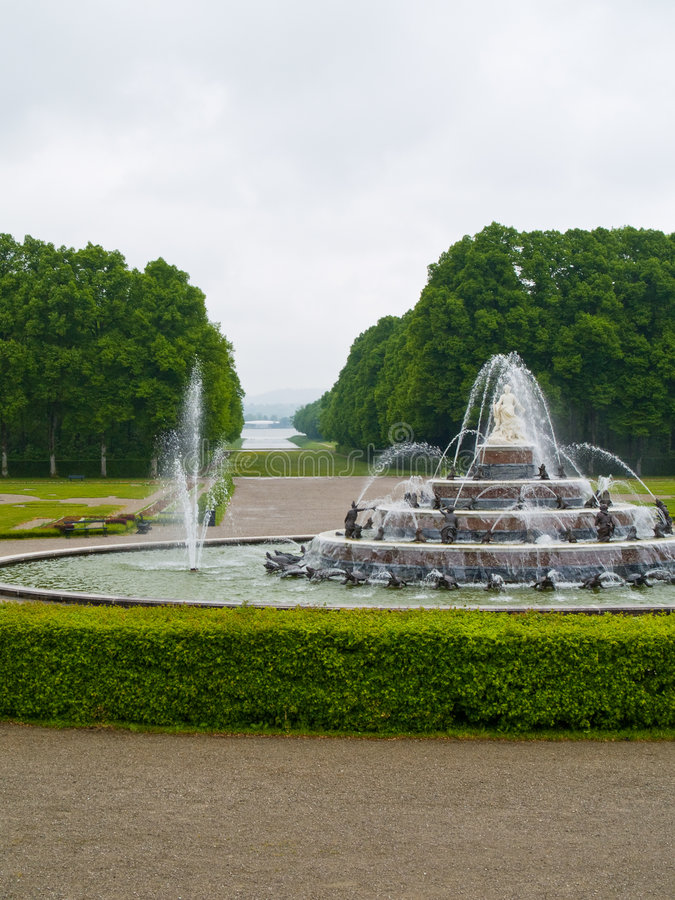 Fontain in the park royalty free stock photo