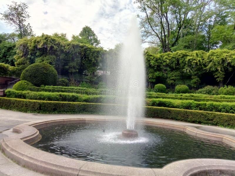 Fontain w centrala parku, Nowy Jork zdjęcie royalty free