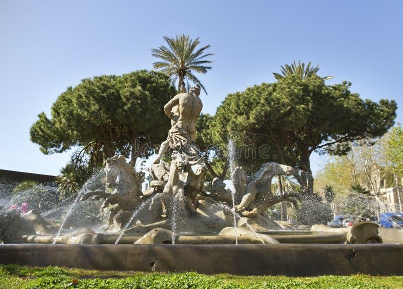 Fontaine à Catane, Italie. photo libre de droits