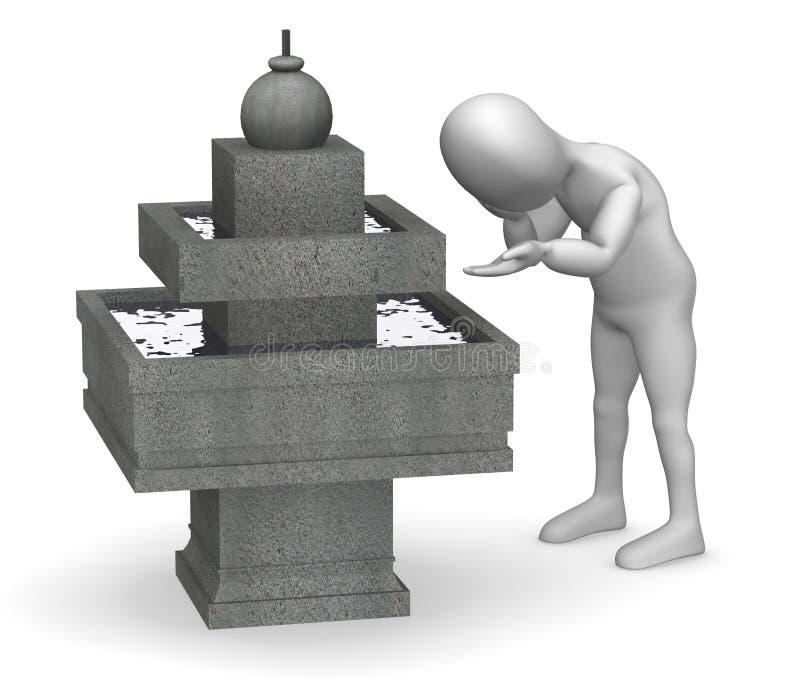 Fontaine illustration de vecteur