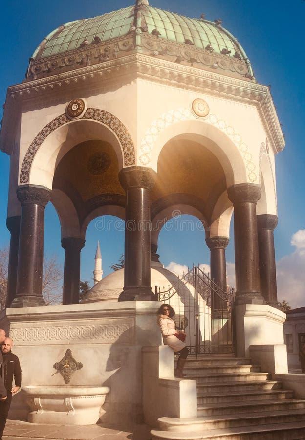 Fontaine allemande photo libre de droits