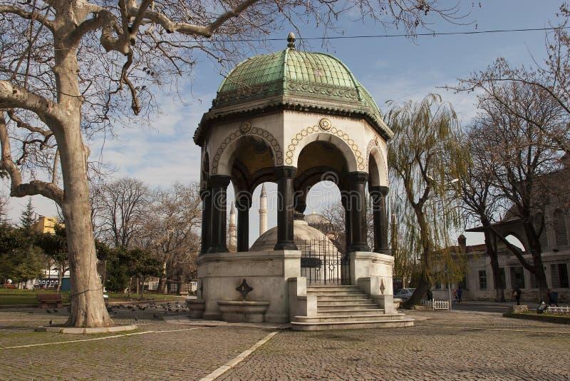 Fontaine allemande dans le vieil hippodrome, Istanbul, Turquie photos stock