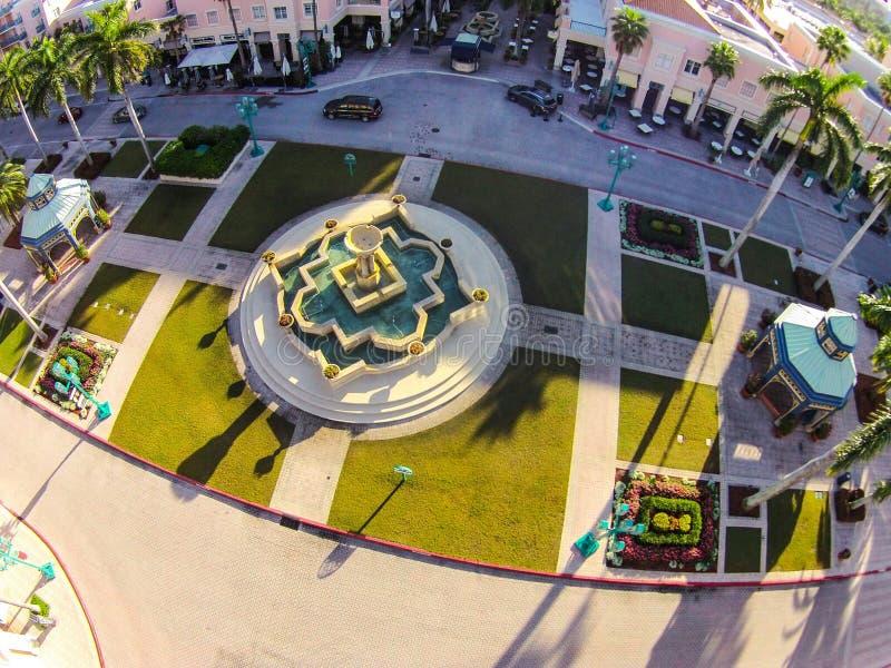 Fontaine au parc de Mizner en Boca Raton, FL photos stock