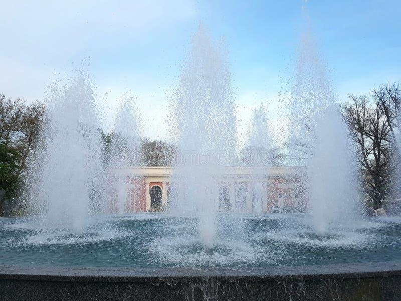 Fontaine au théatre de l'opéra image stock