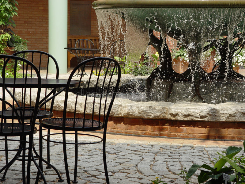 Fontaine aux jardins photo stock
