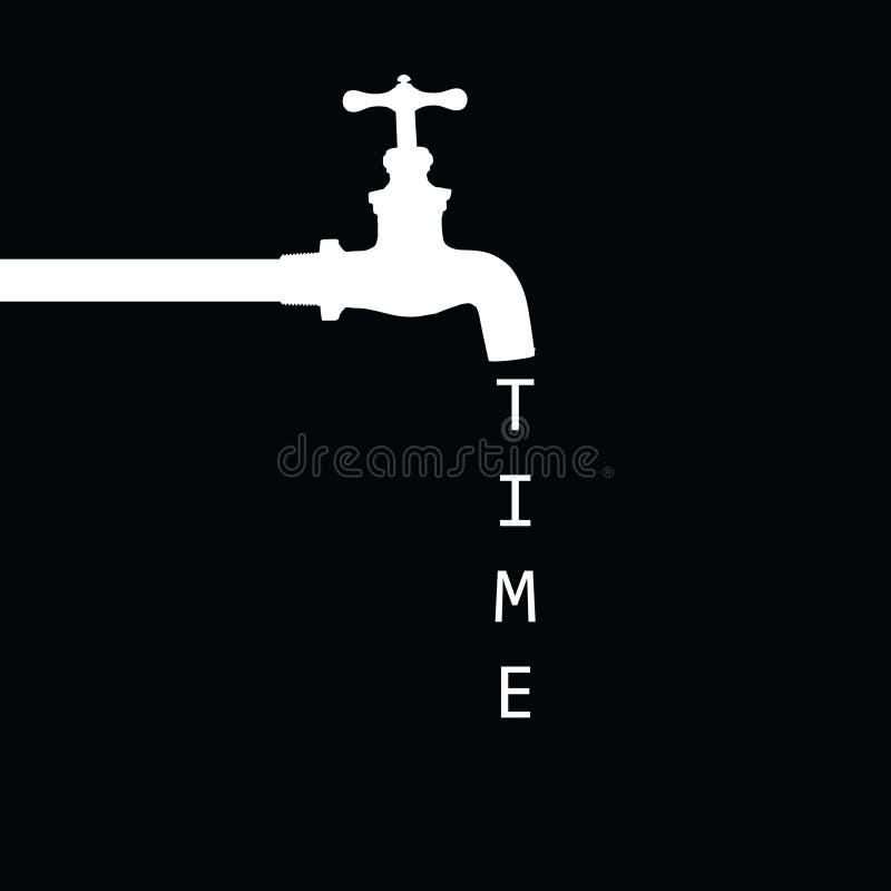 Fontaine avec le noir de robinet illustration stock