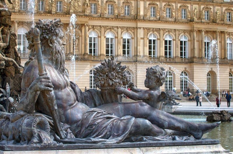 Fontaine baroque photo stock