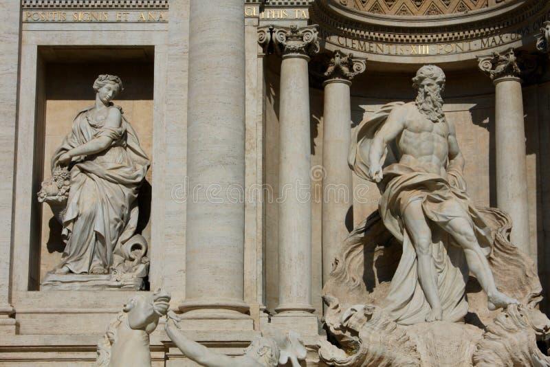 Fontaine célèbre de TREVI à Rome, Italie photographie stock libre de droits