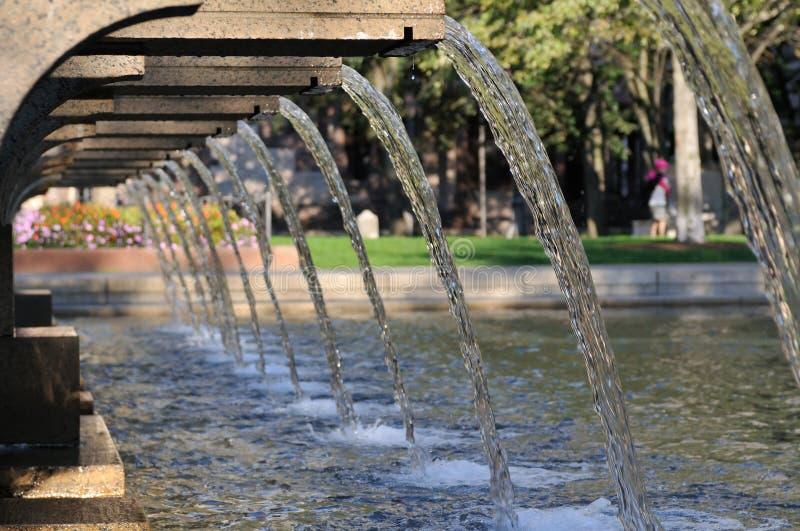 Fontaine carrée de Copley photographie stock