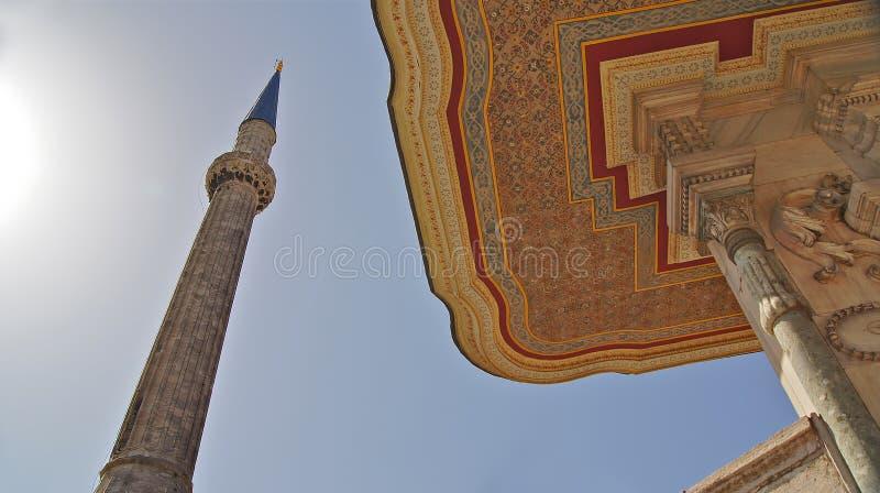 Fontaine d'Ahmet III à Istanbul, Turquie photos libres de droits
