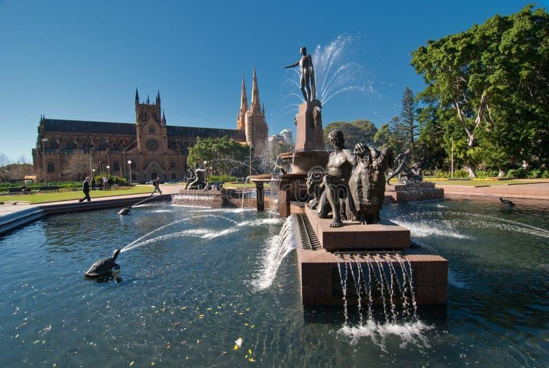 Fontaine d'Archibald, Sydney photographie stock