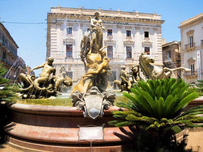 Fontaine d'Artemide, Siracusa images libres de droits