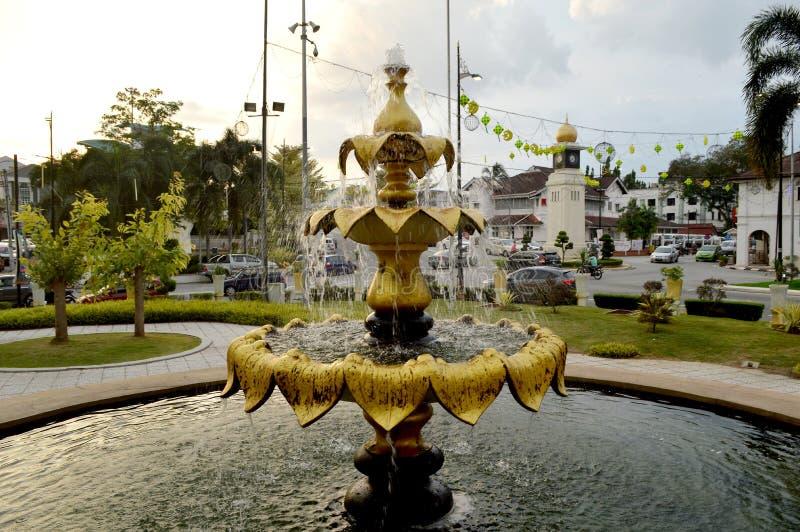 Fontaine d'eau @ Kuala Kangsar photo stock