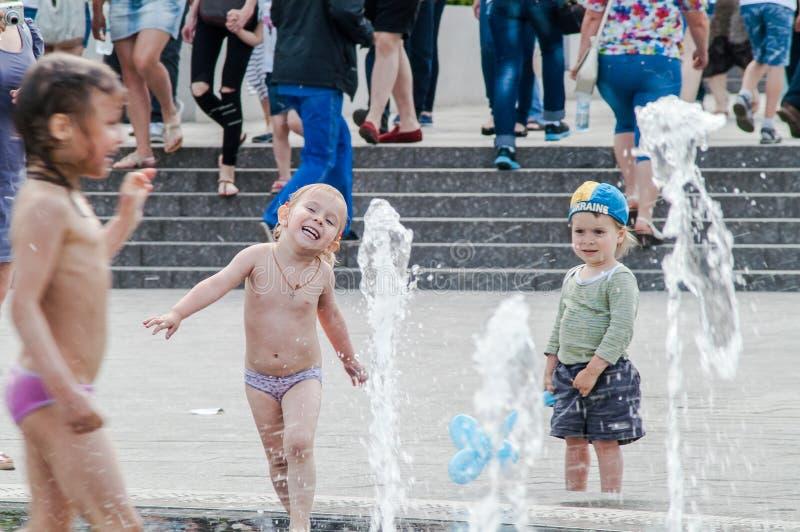 Fontaine d'enfant de Kiev images libres de droits