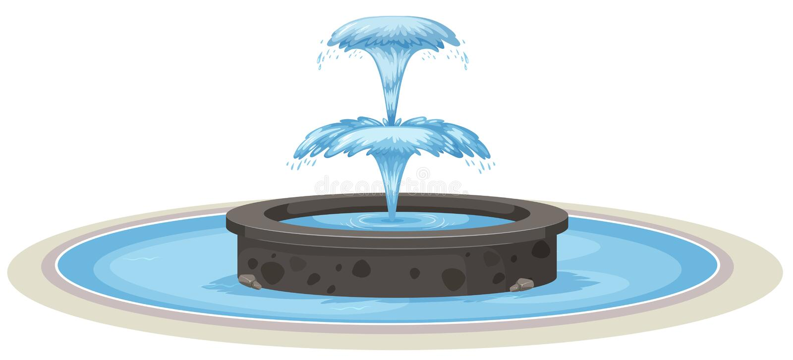 Fontaine d'isolement sur le fond blanc illustration stock