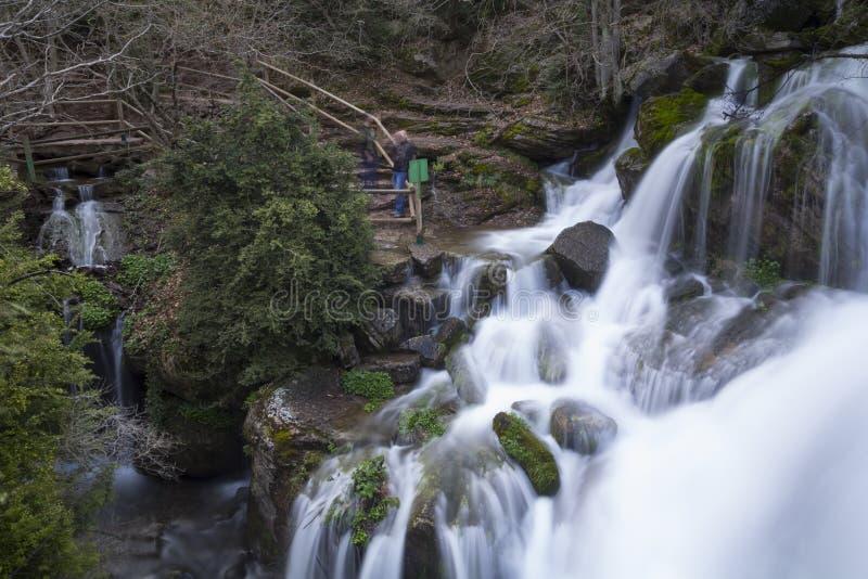 Fontaine d'origine de rivière de Llobregat images libres de droits