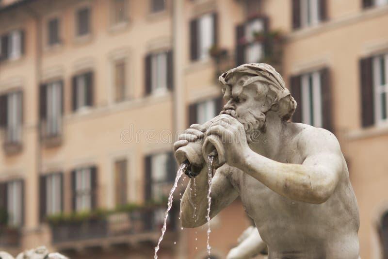 Fontaine dans Piazza Navona photos stock