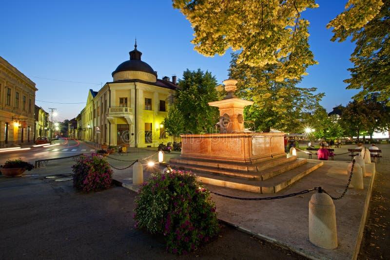 Fontaine dans Sremski Karlovci, Serbie photos libres de droits