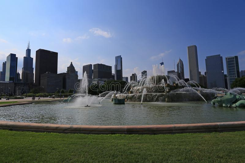 Fontaine de Buckingham Chicago du centre photos stock