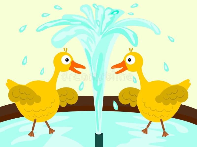 Fontaine de canard illustration stock