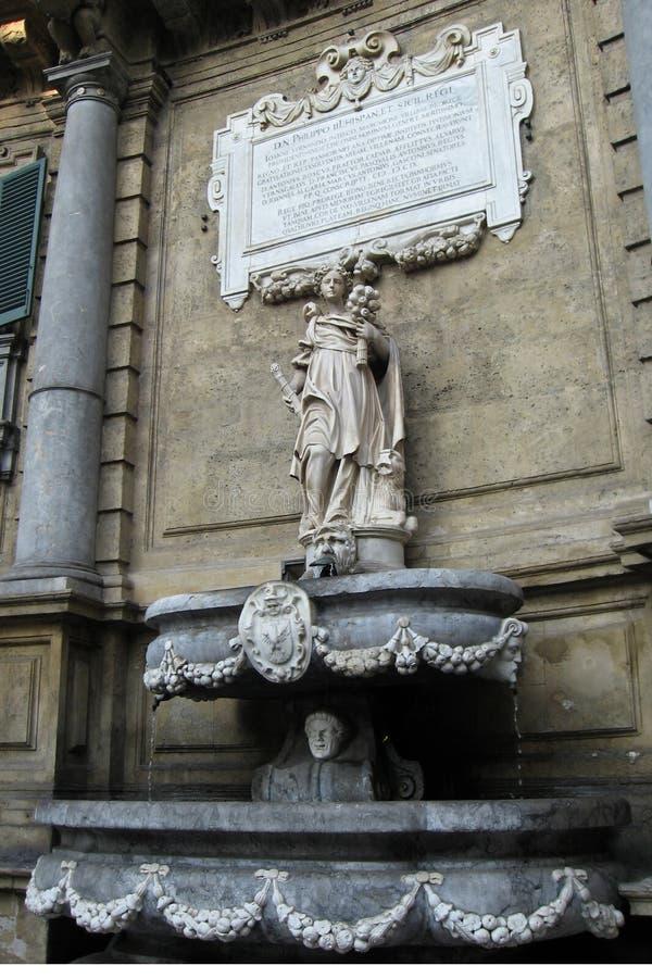 Fontaine de Cuatro Canti images libres de droits