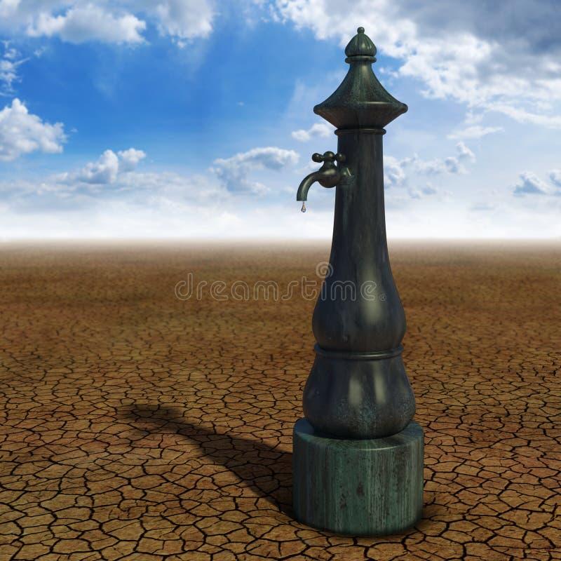 Fontaine de désert illustration de vecteur
