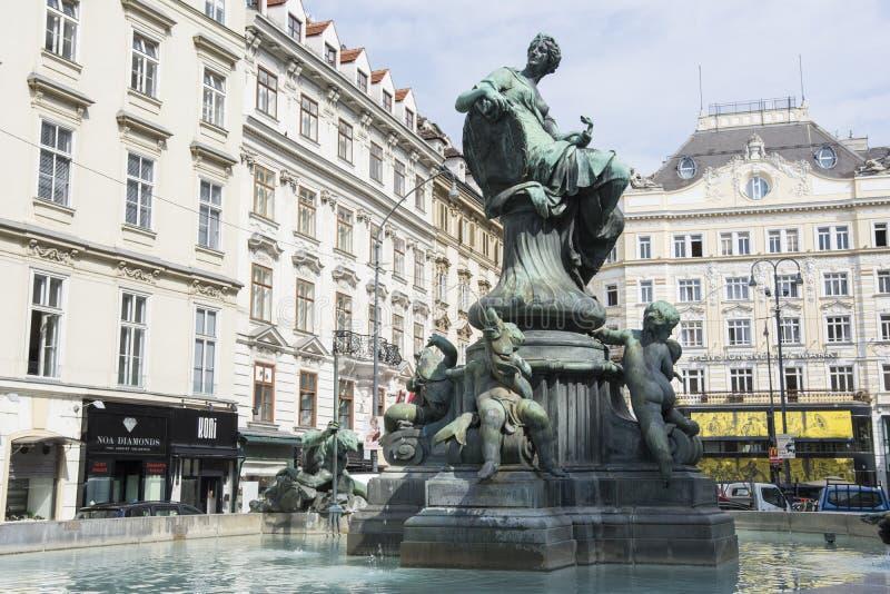 Fontaine de Donnerbrunnen à Vienne photo stock
