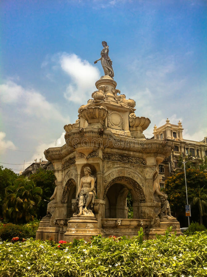 Fontaine de flore dans Mumbai, Inde photographie stock libre de droits