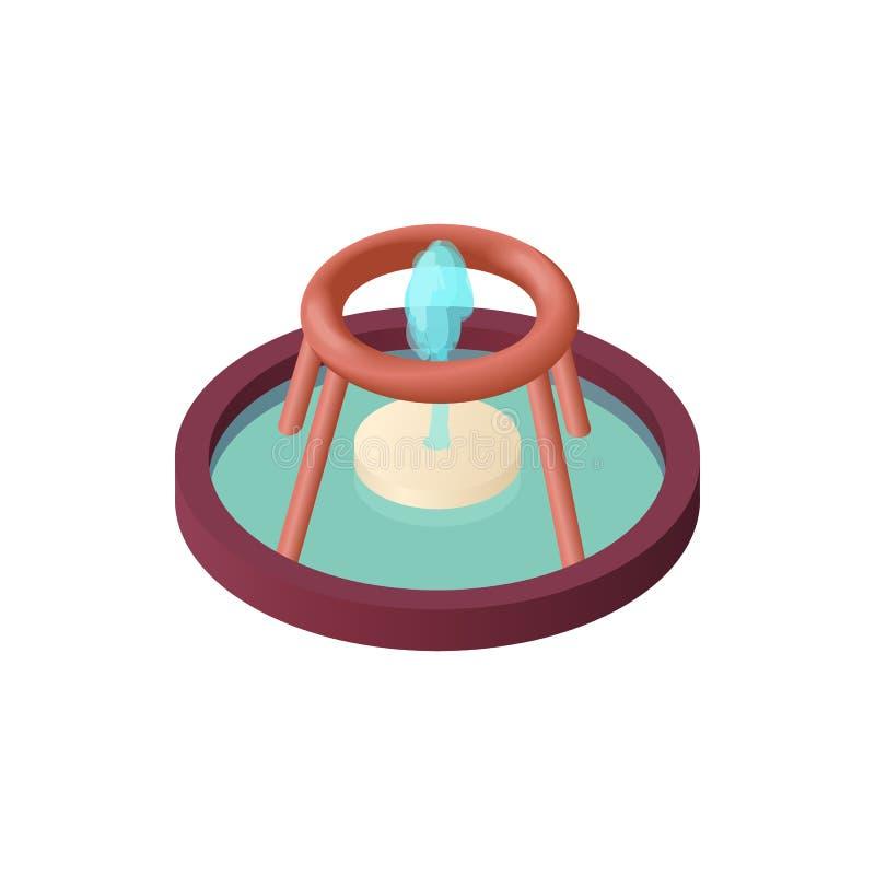 Fontaine de la richesse dans l'icône de Singapour illustration de vecteur