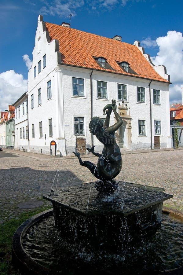 Fontaine de la Suède Kalmar photo libre de droits