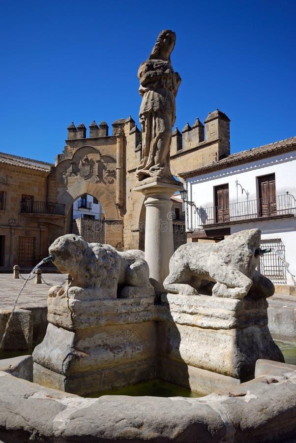 Fontaine de lions, Baeza, Espagne. photo libre de droits