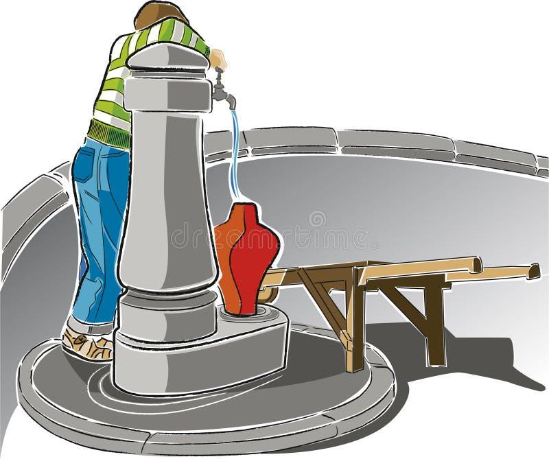 Fontaine de Lisbonne illustration stock