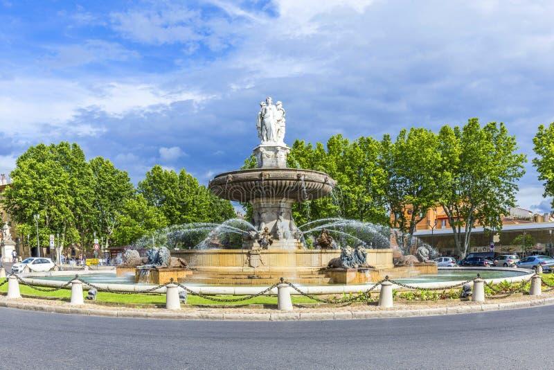Fontaine De Los angeles Rotonde fontanna obrazy royalty free