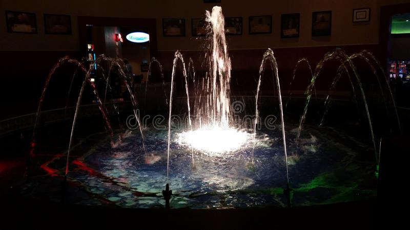 Fontaine de lumière image libre de droits