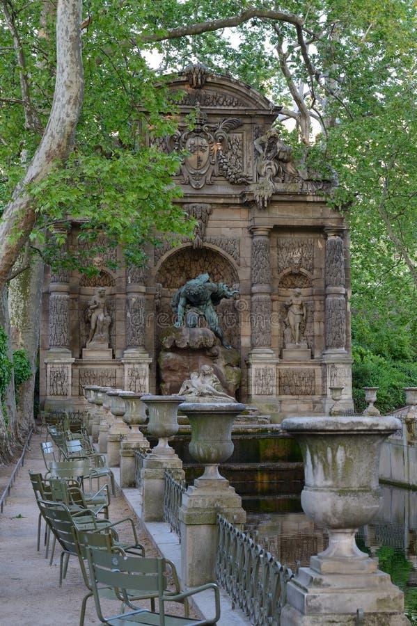Fontaine de Medicis, Jardin du Luxembourg, Paris arkivfoton