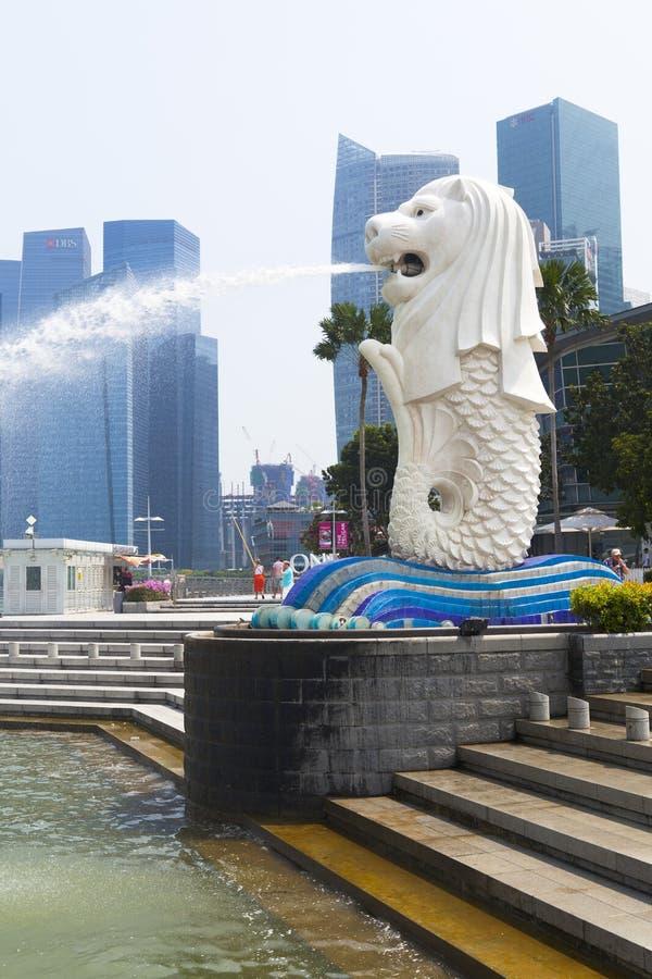 Fontaine de Merlion à Singapour photo libre de droits