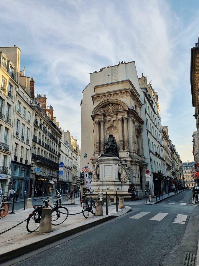 Fontaine de moliere, Paris, France royalty free stock images