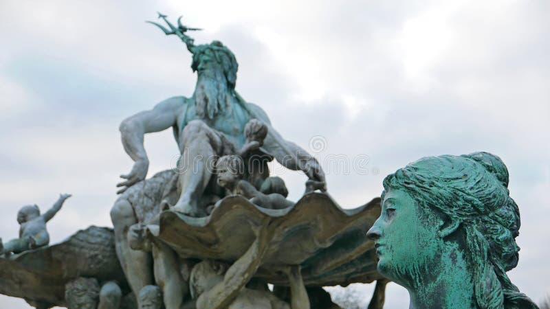 Fontaine de Neptun en Berlin Germany photo libre de droits
